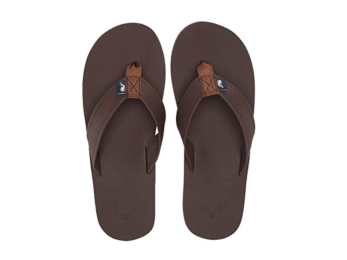 42a0b8385 Vineyard Vines Leather Flip Flops at Zappos.com