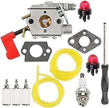 Hilom WT-628 Carburetor for Poulan PPB100 PPB200 PPB300 SM132 PPB350 PP031 PP033 PP035 PP036 PP131 PP135 PP136 Weed Eater Craftsman String Trimmer 530071637 with Fuel Line Repower Kit