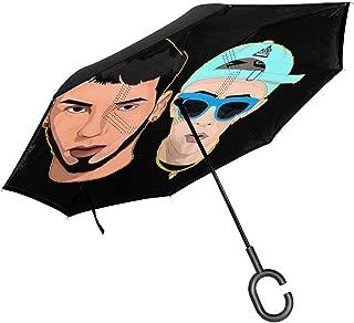 Oknight Anuel-AA PG-cloth Car Reverse Umbrella Black