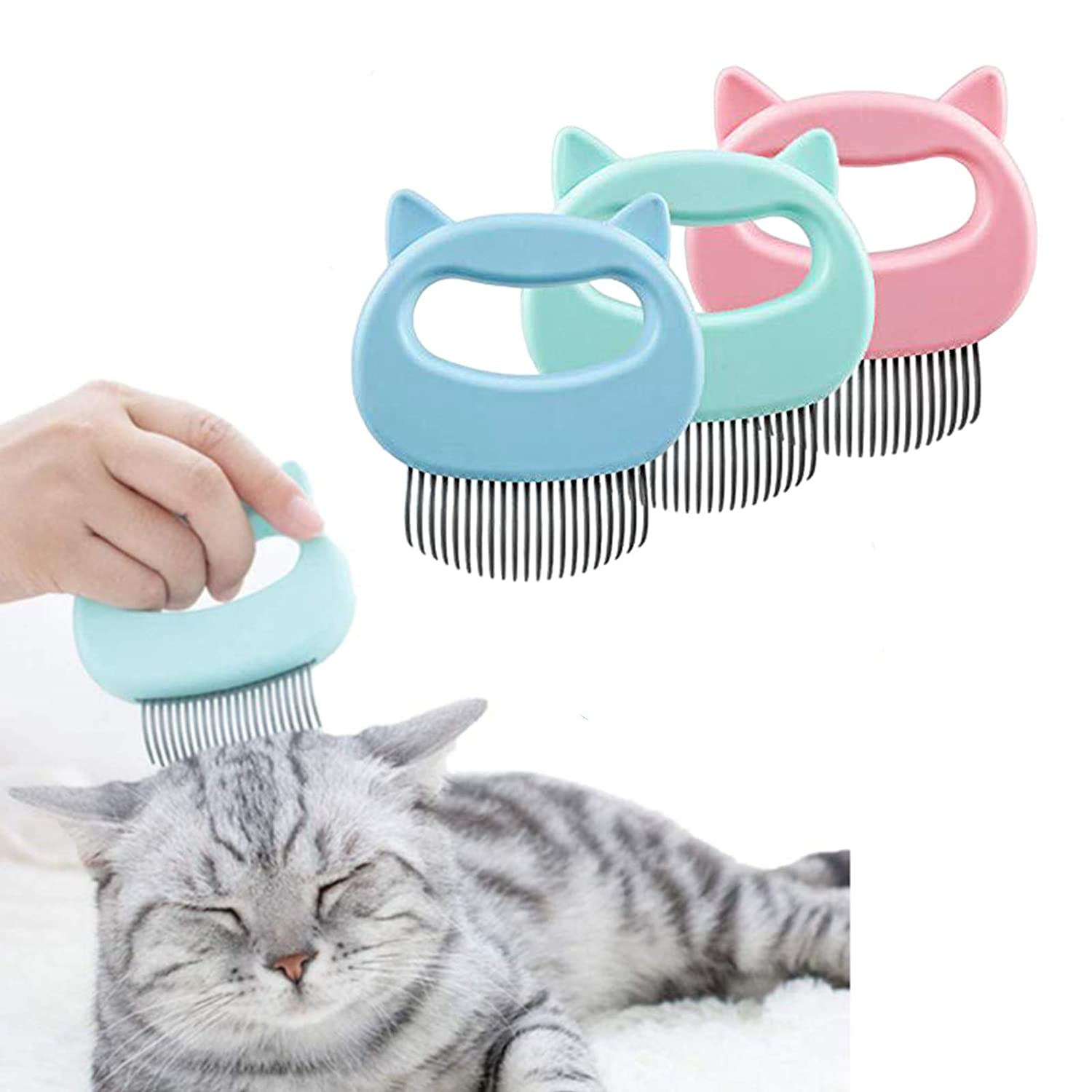 Ranking TOP15 Luckgy 3 Pcs Cat Dog Comb Pet Luxury Hair Massage Do Grooming
