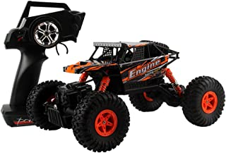 Lovewe All Terrain RC Car, 9km/h 1/18 Scale Radio Controlled Electric Car - Offroad 2.4Ghz 4WD Remote Control Truck - Best Christmas Gift for Kids and Adults (Orange)