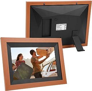 إطار صورة رقمي ذو مظهر خشبي مع شاشة لمس لإطار الصورة للحصول على تلقائي (المنظم البريطاني)