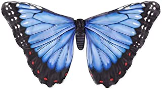 HearthSong Beautiful Butterfly Wings, Dress Up and Pretend Play Costume for Kids - 46 W x 24 L - Blue Morph……