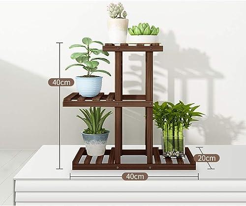 PAN H erne Blaumen-St e, Pflanzen-Stand-Pflanzer-Anzeigen-Innenregal im Freien für Yard-Dekor-starken BAU (Größe   40cm(L))