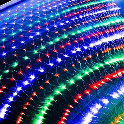 LED Net Mesh String Lights, Twinkle Waterproof Fairy Net Lights, Outdoor Fence Icicle Lights, Patio Light for Garden/Wedding/Christmas