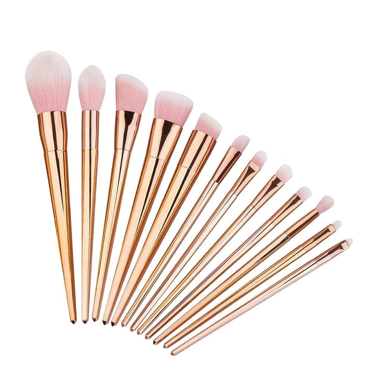 しばしば寮姿勢プロフェッショナル メイクブラシ 化粧筆 シリーズ 化粧ブラシセット 高級タクロン 超柔らかい 可愛い リップブラシツール 12本セット