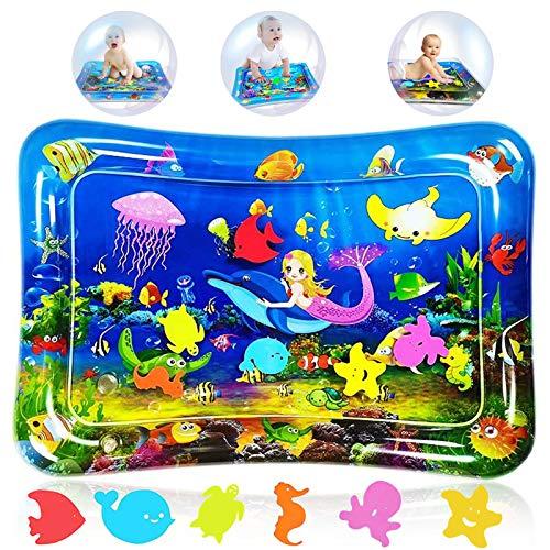 Tappetino Gonfiabile per Neonati,Tappetino per Bambini d'Acqua,Tappetino per acqua per bambini,Tappetino Gonfiabile per Bambini,Materassi Gonfiabili ad Acqua (Sirena)