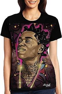 KUMAR394 Kodak Black Women's Popular Short Sleeve Shirt Cotton T-Shirt