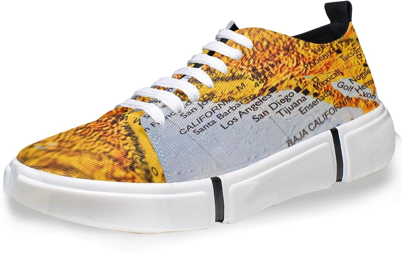 3c11d2b854a87 FAJRO California Men's Men's Men's Memory-Foam Lace-up Sneaker ...