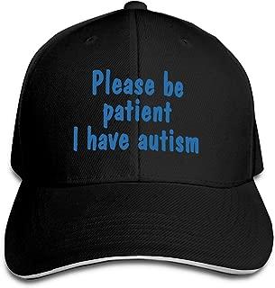 Please Be Patient I Have Autism Adjustable Sandwich Hats Baseball Cap Sun Hat