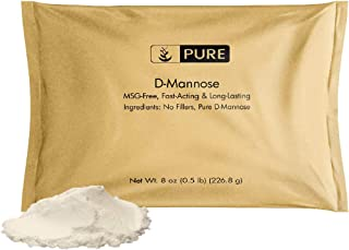 D-Mannose Powder (8 oz, ½ TSP per Serving) by Pure Organic Ingredients, 100% Pure, Easy & Natural Solution, Bladder & Urinary Tract Healthy*, High-Quality & Fast-Acting, Eco-Friendly Packaging