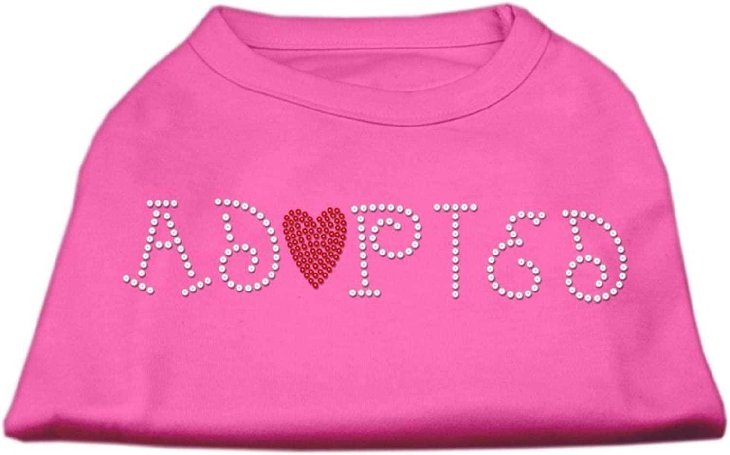 Mirage Pet Products 20Inch Adopted Rhinestone Print Shirt for Pets, 3XLarge, Bright Pink