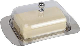 vassoio da portata contenitore 18.7x12.3x7cm Come da immagine Burriera in acciaio inox con coperchio facile da tenere in mano