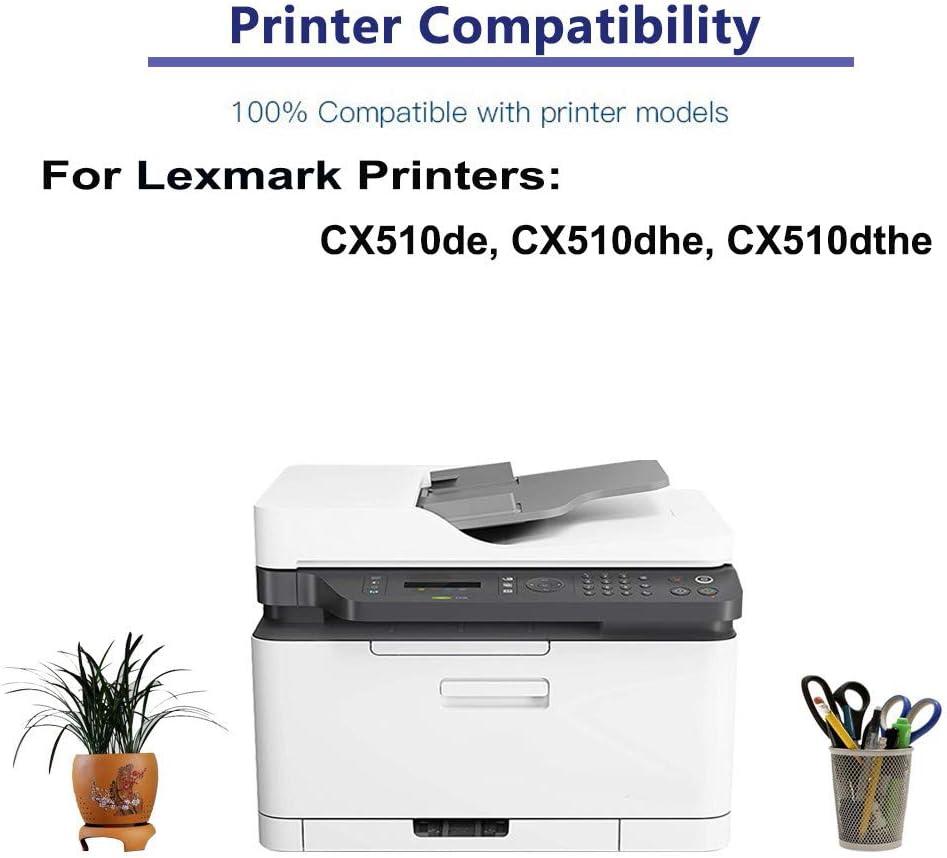 1-Pack (Magenta) Compatible CX510de, CX510dhe, CX510dthe Printer Toner Cartridge High Capacity Replacement for Lexmark 80C0X30 Toner Cartridge