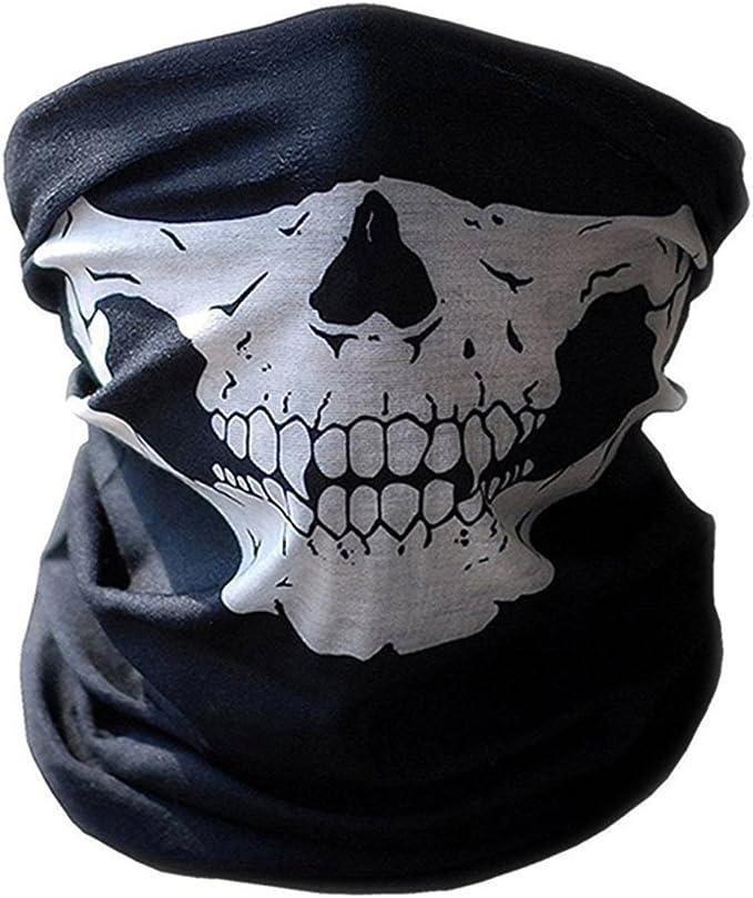 Multifunktionstuch Schlauchtuch Sturmmaske Bandana Totenkopf Halstuch Skelettmaske Für Motorrad Fahrrad Ski Paintball Gamer Karneval Kostüm Skull Maske Auto