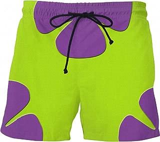 Tealun Cute Summer Men Casual Shorts 3D Cartoon Patrick Star Trousers for Women/Men Regular Shorts