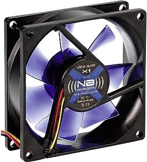 Noiseblocker BlackSilentFan X1 - Ventilador de PC (Ventilador, Carcasa del ordenador, 8 cm, Negro, 5V, 8 cm)