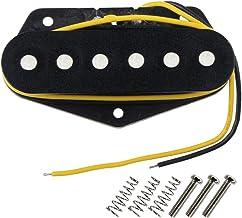 Best FLEOR Tele Pickups Alnico 5 Black Tele Bridge Pickup Fit Fender Telecaster Bridge Pickup Part Reviews