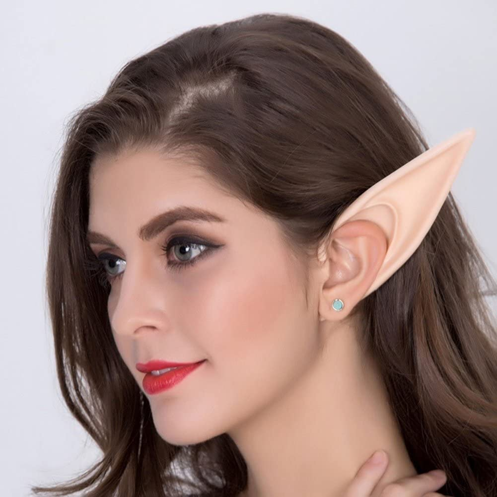 litymitzromq Halloween Costumes,Halloween Glow in The Dark Fairy Cosplay Anime Fake Elf Ears Props Costumes Halloween Props Outdoor Holiday Party Decoration Arriving Before Halloween