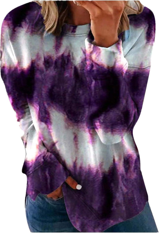 half Hotkey Fashion Max 81% OFF Sweatshirts for Women Round Neck Long Grad Sleeve
