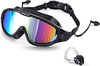 SwimStar Swim Goggles with Ear Plugs, UV Protection No Leaking Anti Fog Lens Swimming Glasses for Adult Women Men and Youth
