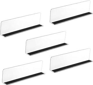 Scicalife 5 Pièces en Plastique Étagère Diviseur Placard Rangement Rack Diviseurs Placard Séparateur Étagère Organisateur ...