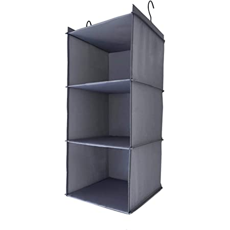Amira 吊り下げ収納 衣類ラック 収納 クローゼット 水洗い可能 防湿防カビ 折りたたみ (3階)