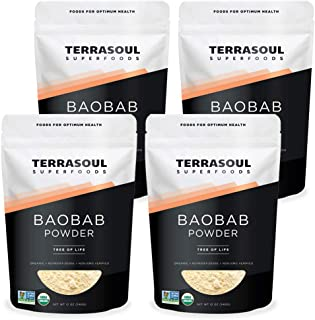 Terrasoul Superfoods Organic Baobab Powder, 3 Lbs (3 Pack) - Vitamin C | Antioxidants