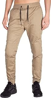 I.TALYMORN Men Chino Jogger Casual Pants Biker Jogging Twill Khakis Slim Fit
