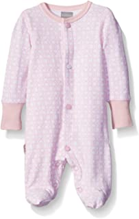 Blue Banana Girls Floral Bow Footie Pajamas Footed Sleeper Baby Pajamas