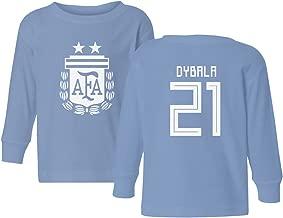 Tcamp Argentina 2018 National Soccer #21 Paulo DYBALA World Championship Little Kids Girls Boys Toddler Long Sleeve T-Shirt