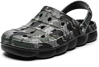 Men'S Sandals Summer New Camouflage Garden Shoes Couple Rubber Wood Beach Walking Sandals Men'S Plus Size