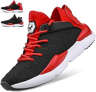 Kids Shoes Boys Girls Sneakers Flyknit Sock Shoes Lightweight Slip-on Wide Width