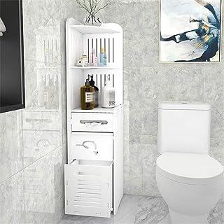 Au-dessus de l'unité de stockage de toilette Autoportant salle de bains Space Saver Organisateur avec tiroir Poubelle sall...