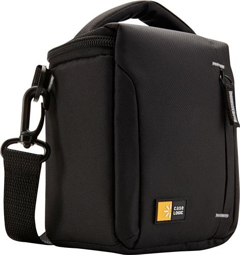 Case-Logic TBC-404 Custodia in Nylon Compatibile con sistema compatto e telecamere ibride / zoom elevato, Nero