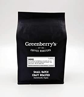 Greenberry's Coffee Co. - House Blend Whole Bean - Bold, Fresh, 100% Arabica, Medium Roast Beans, 12 oz