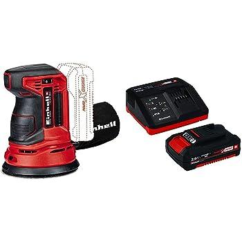 Einhell 4462010 Lijadora Excentrica Electronica TE-RS 18 li Rojo Sin Bater/ía 4512097 Kit para principiantes que incluye Bater/ía 2,5 Ah 18 V Cargador Power X-Change 0 W