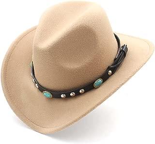 Ruiyue Western Cowboy Hat,Classic Women Men Hat With Roll Up Brim Felt Cowgirl Sombrero Caps For Unisex