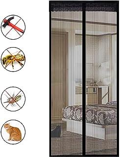 Negro Mosquitera Ventana Magnetica,Cortina de Ventana para Prevenir Mosquitos y Insectos Anti-mosquito,Tama/ño completo WxH