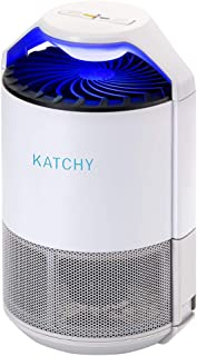 KATCHY Indoor Insect Trap: Bug, Fruit Fly, Gnat, Mosquito Killer - UV Light, Fan, Sticky Glue Boards Trap Even The Tiniest Flying Bugs - No Zapper - Child Safe, Non-Toxic (White)