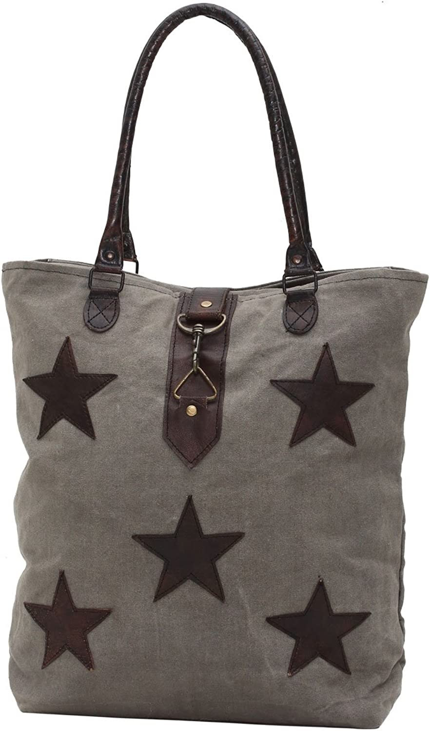 Myra Bags Stardom Upcycled Canvas Tote Bag M0805