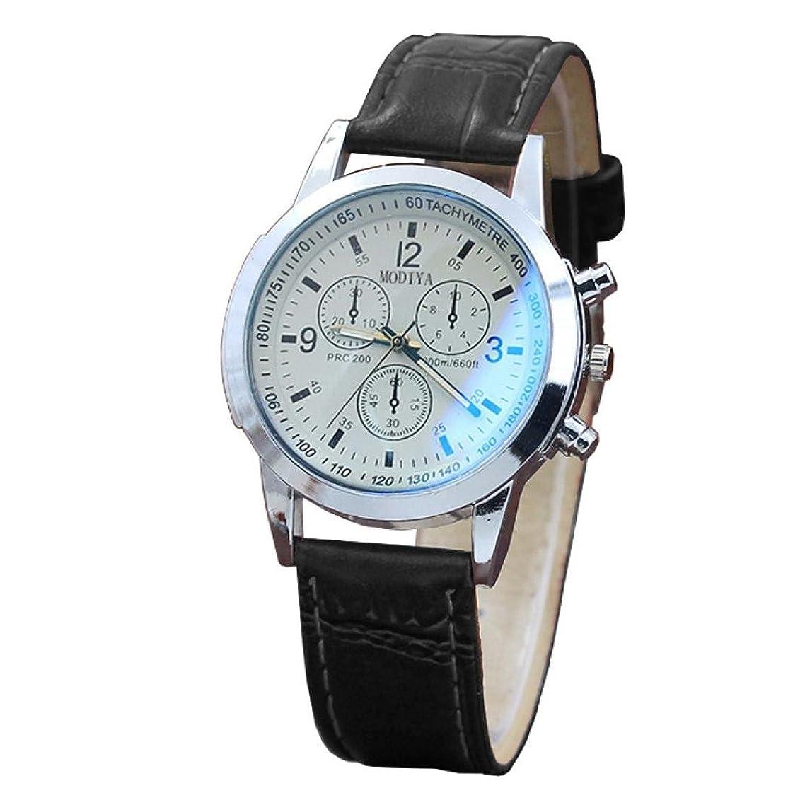 穿孔する必要性工業化するAnkola手首腕時計、Manファッションウォッチイミテーションレザーレトロバンドアナログ合金クォーツ時計 20mm B