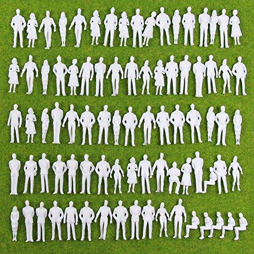 情景コレクション 人間 人形 人物 人間フィギュア 未塗装 1:50 35mm 100本入り 箱庭 装飾 鉄道模型 建物模...