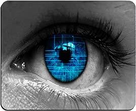 Blue Eye Pattern Background Custom Rectangular Mouse Pad Oblong Gaming Mousepad MP3167