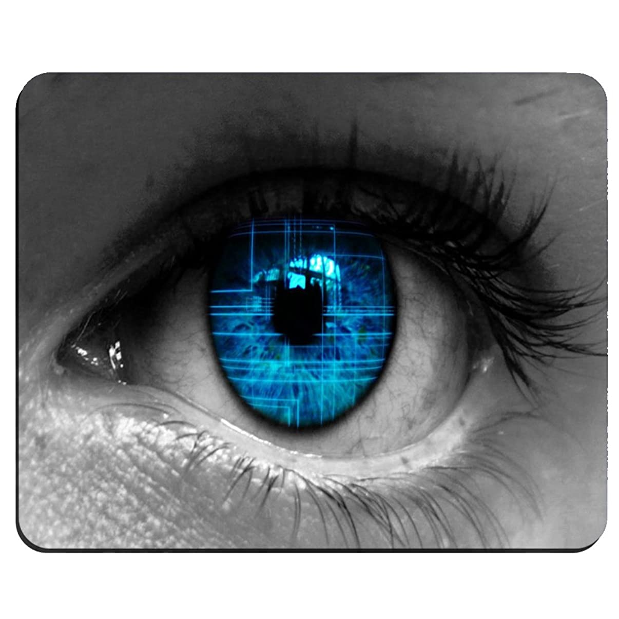 Blue Eye Pattern Background Custom Rectangular Mouse Pad Oblong Gaming Mousepad MP3167