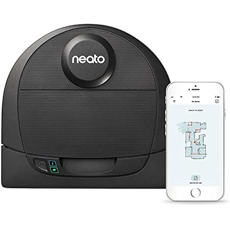Neato Robotics D4 Laser Guided Smart Robot Vacuum - Wi-Fi Connected, Ideal for Carpets, Hard Floors and Pet Hair, Works with Alexa (Renewed)