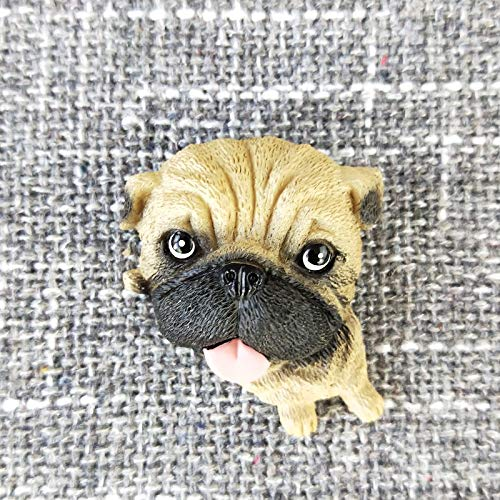 OYBB Ornaments Statues World Famous Dog Refrigerator Stickers Cute Simulation Puppy Dog ​​3D Stereo Animal Stickers Magnet Magnet Wall Decoration