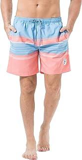 Lapulas Mens Boys Swim Trunks Beach Board Shorts Bathing Swimsuits Quick Dry with Mesh Lining