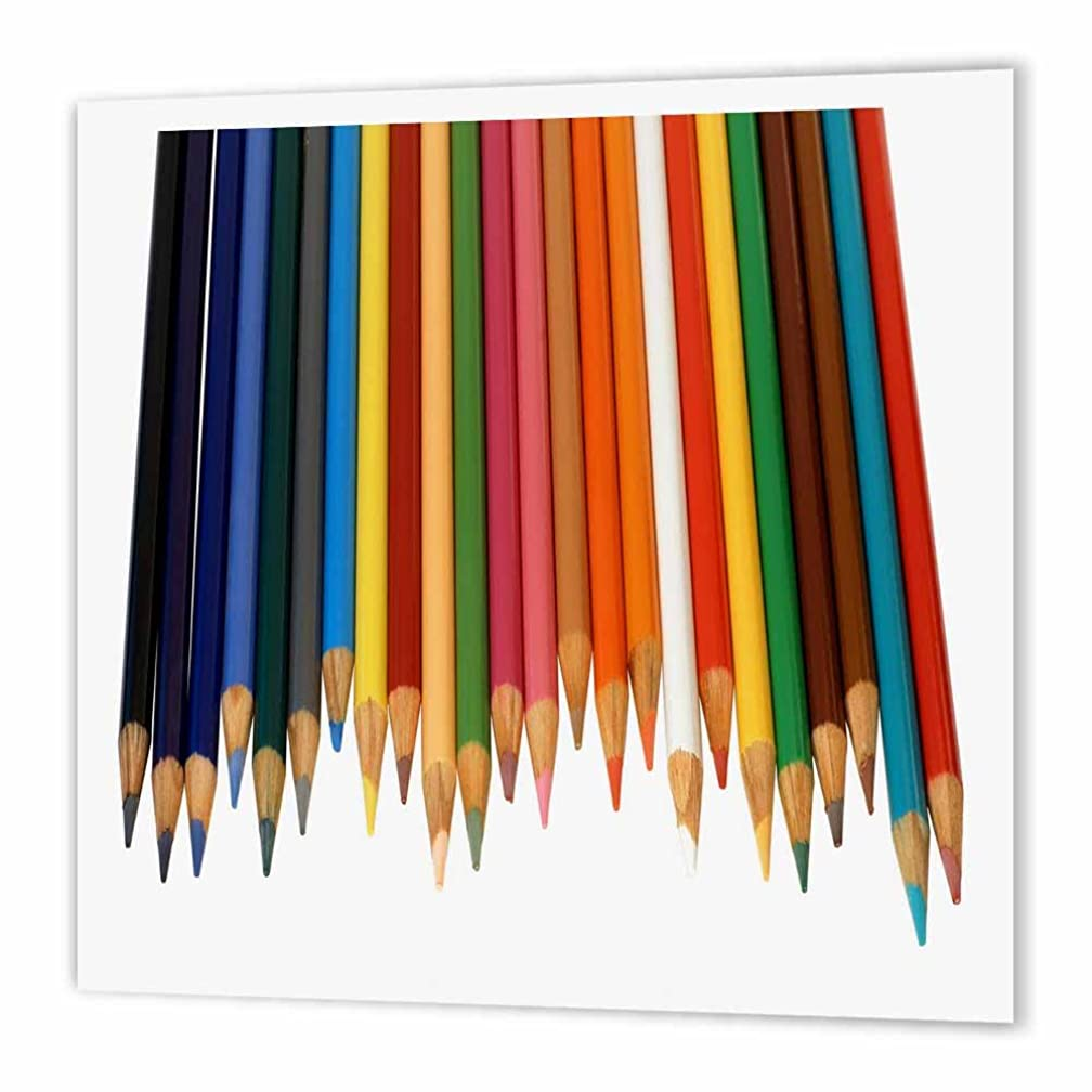 3dRose ht_195374_3 Colored Pencils Iron on Heat Transfer, 10 by 10