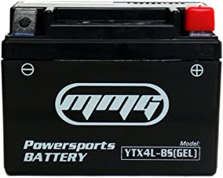 MMG YTX4L-BS Gel Cell Powersports Sealed Factory Activated 12v Battery Replaces PTX4L-BS CT4L-BS GT4L-BS GTX4L-BS CYTX4L-BS